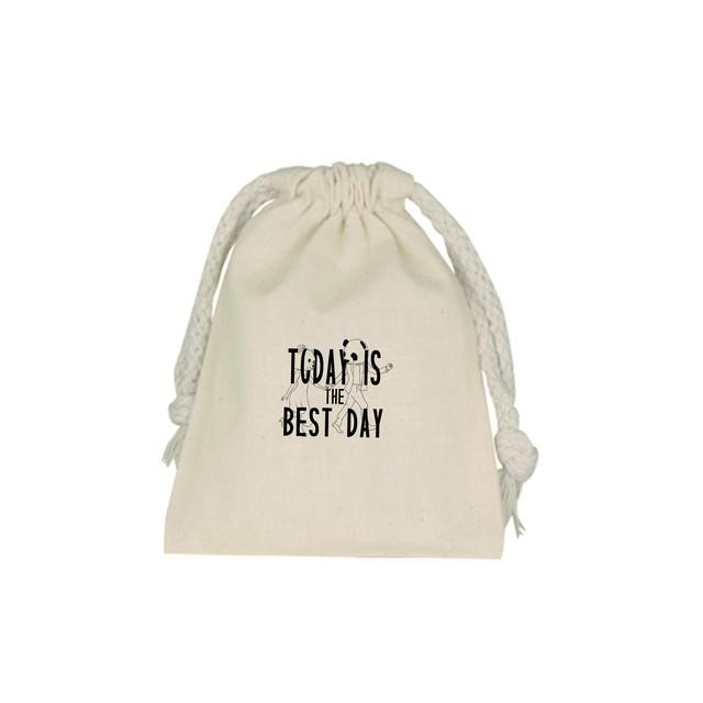 巾着Today is best day1枚(ご自宅用)