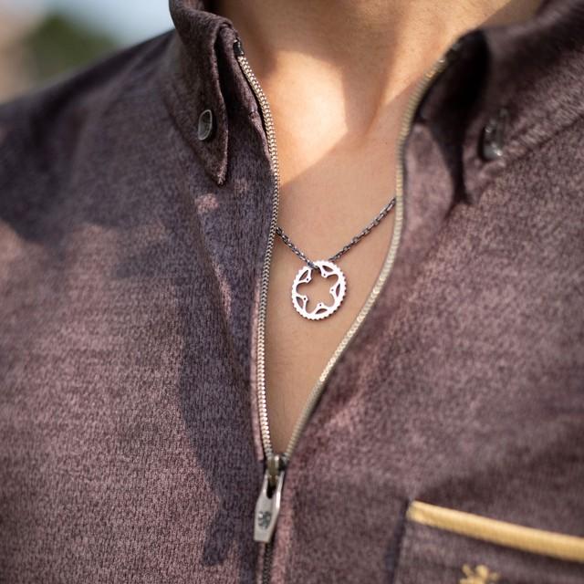 【プレゼントにおすすめ】Chainring necklace_Silver / チェーンリングネックレス_シルバー