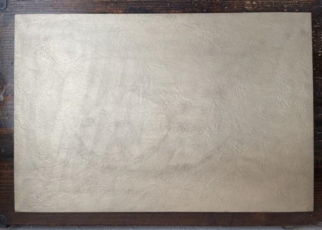 八木由紀子作品 折敷 錫彩