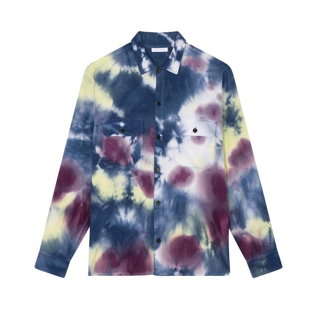 【FUTUR】 COR OVERSHIRT Tie Dye Light