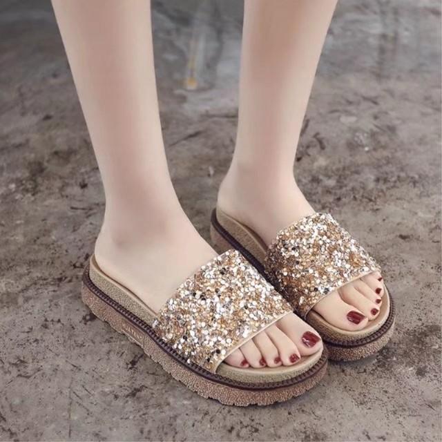 【shoes】カジュアル合わせやすい夏にピッタリ疲れないスリッパ