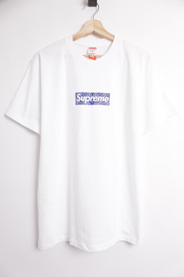 Supreme 19AW BANDANA BOX LOGO TEE WHITE MEDIUM 250JH8342