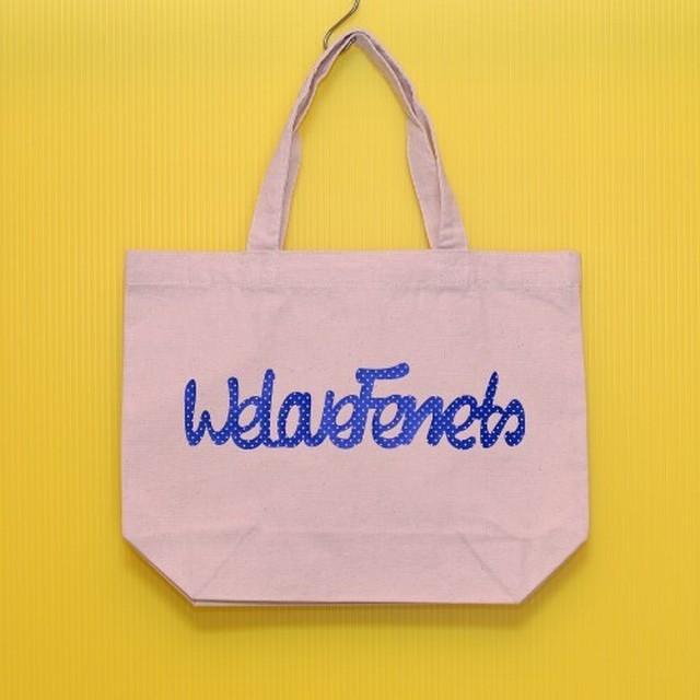 We Love Ferrets &ハートフェレットシルエット スタンダード キャンバス トートバッグ(3) ナチュラル Sサイズ