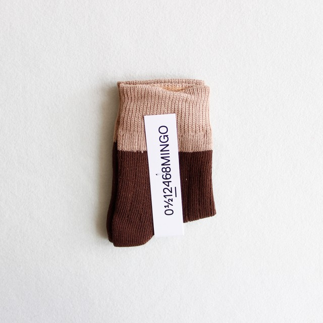 《MINGO. 2019AW》Socks / Taupe × Bitter Chocolate