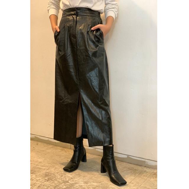 ZURI・レザースリットスカート(0W45006H)