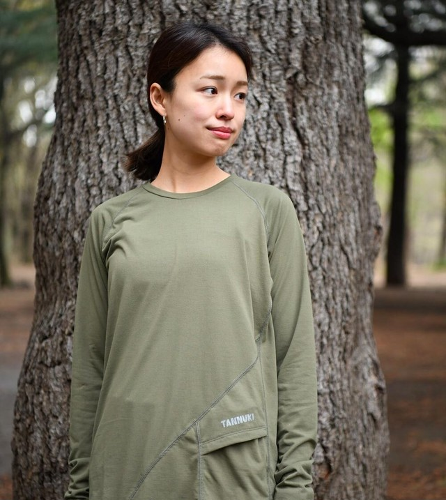 Sato LS Crew Neck: Color Green