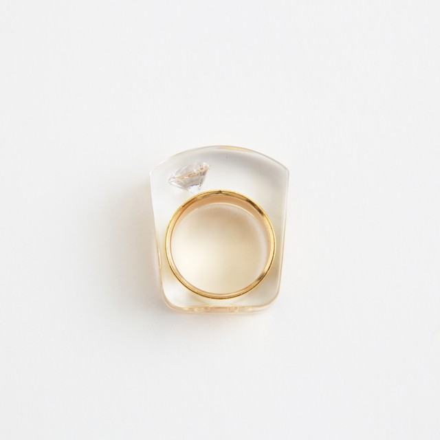 JUTIQU/Essence Ring 1(3 pearls ring)
