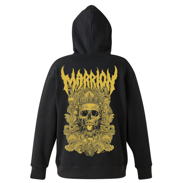 DEATH MARRION~Pullover Hoodie (Black×Gold)