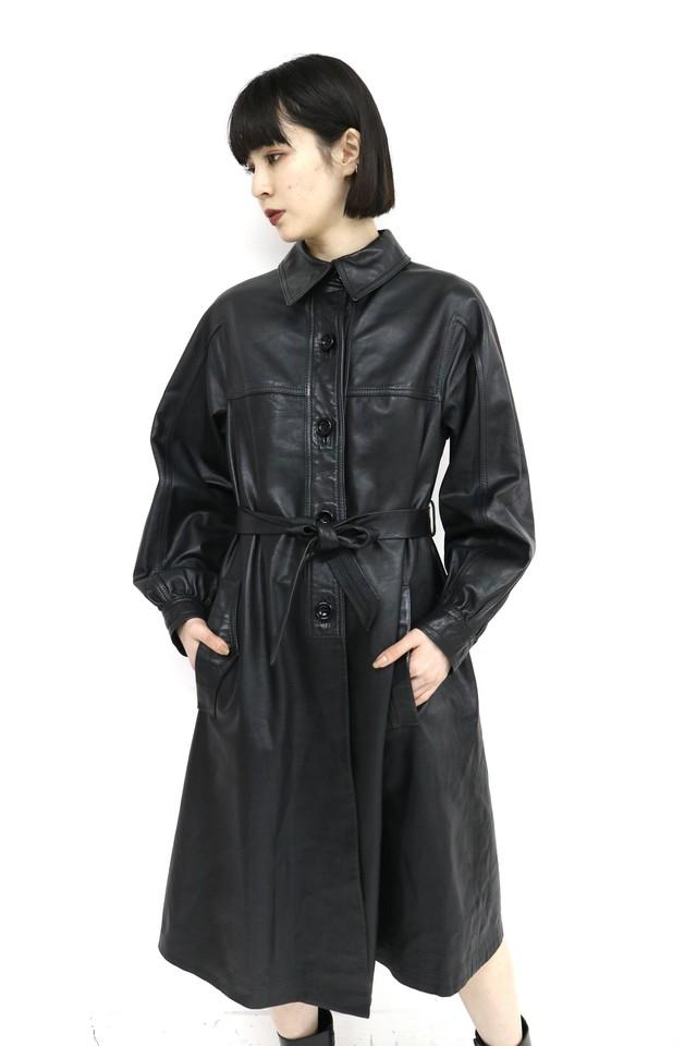vintage one-piece leather coat / 3SSOU25-13