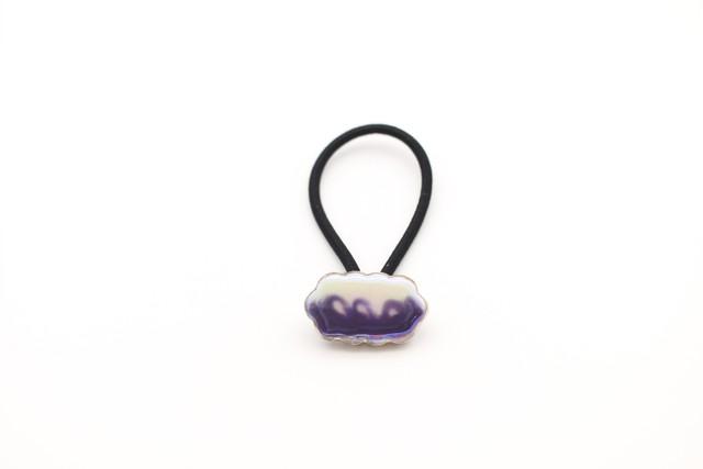 有田焼 ヘアゴム  マーブル模様 紫