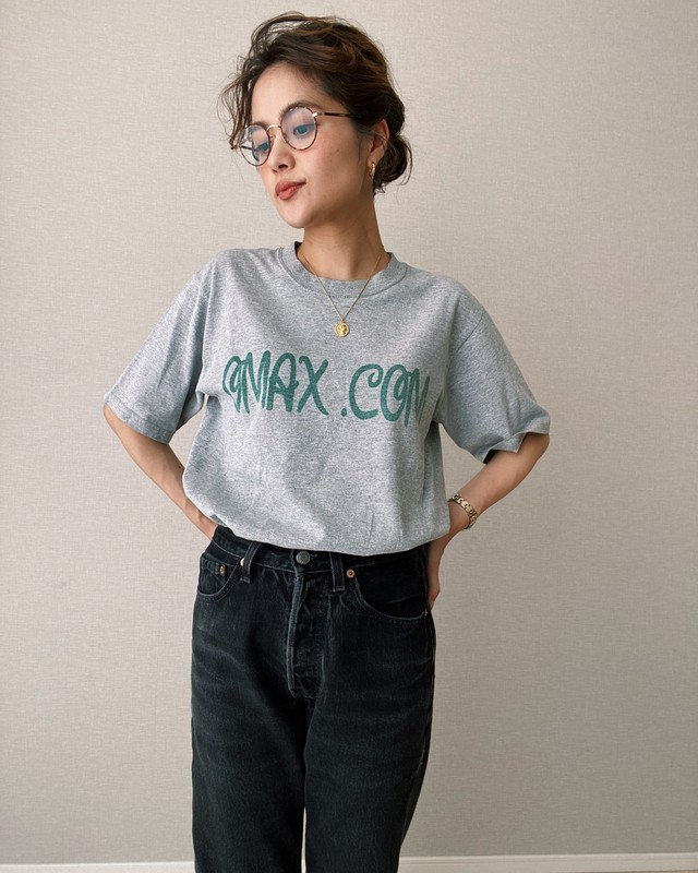 (CS336)90's anvil Printed T-shirt made in USA