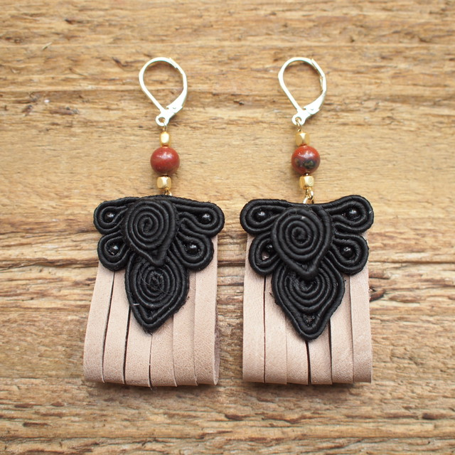China Fringe Pierce / Black