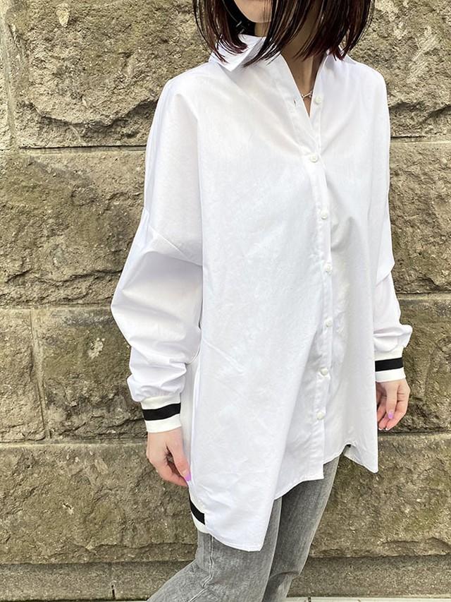 リブラインシャツ[Color:ホワイト]