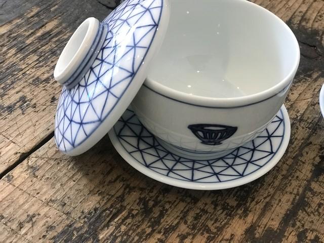 うつわのわ田オリジナル 有田焼 茶碗蒸し3点セット