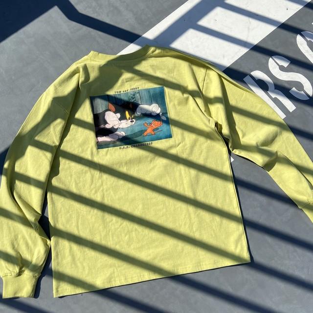 【予約販売10/20頃発送】トム&ジェリーバックプリントロングスリーブTシャツ NO0715002