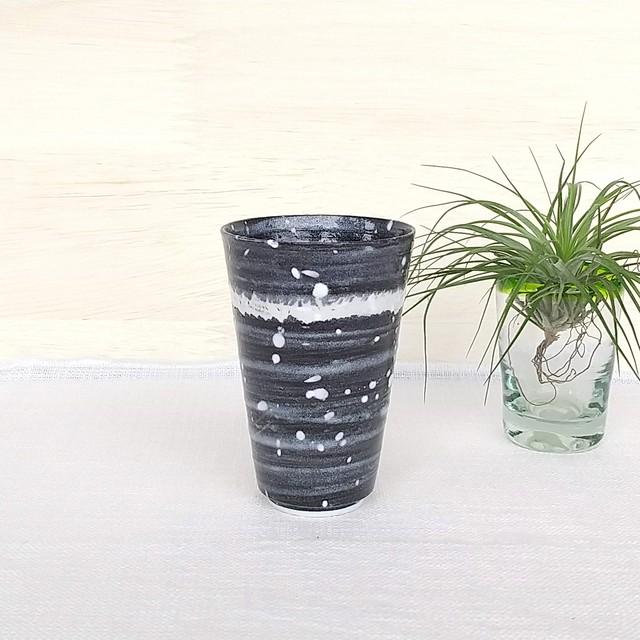 秀島窯作 光彩釉 銀河 タンブラー (ホワイト)