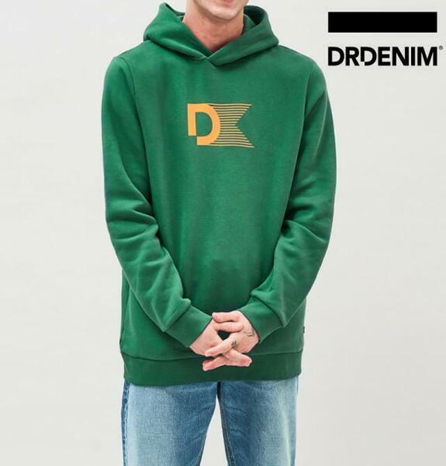 ドクターデニム DR.DENIM パーカー スウェット プルオーバー ロゴ メンズ ACE HOODIE Green Stream【正規取扱店】