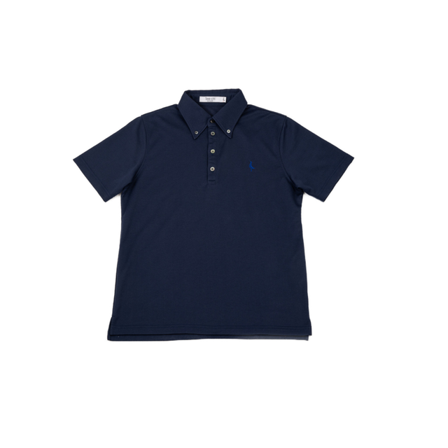 【 MEN'S 】サンゴクロス ポロシャツ 【BD-ONE】(NAVY)