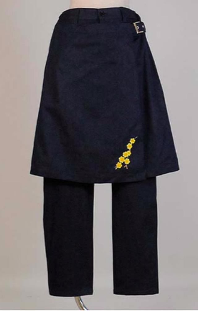gouk 巻きスカートがついたデニムパンツ GGD27-P035 NV/M