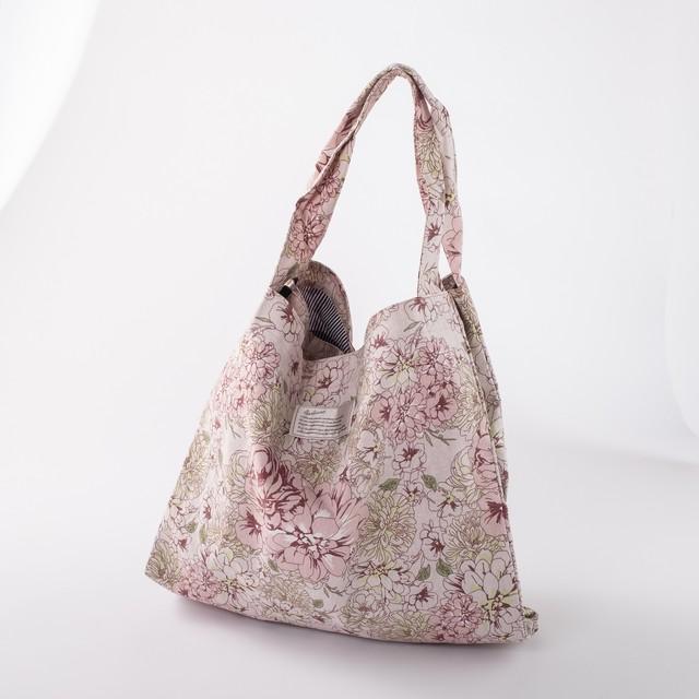 Wトートバッグ 「花柄リラックスWトートバッグ ピンク」