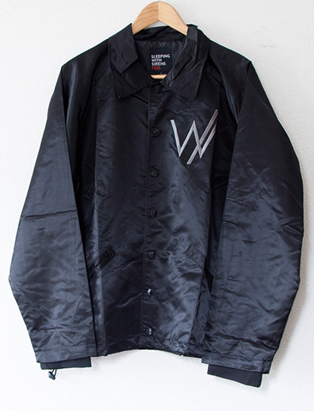 【SLEEPING WITH SIRENS】Custom Embroiderde Logo Coach Jacket (Black)
