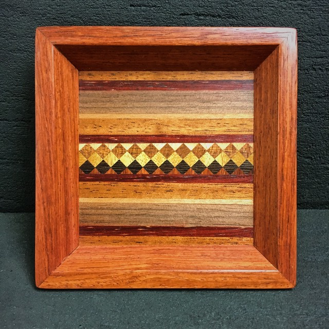 wood inlay mini tray  0103