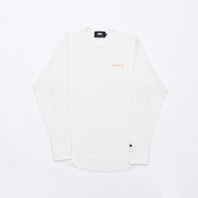 CRATE Waffle L/S T-Shirts WHITE