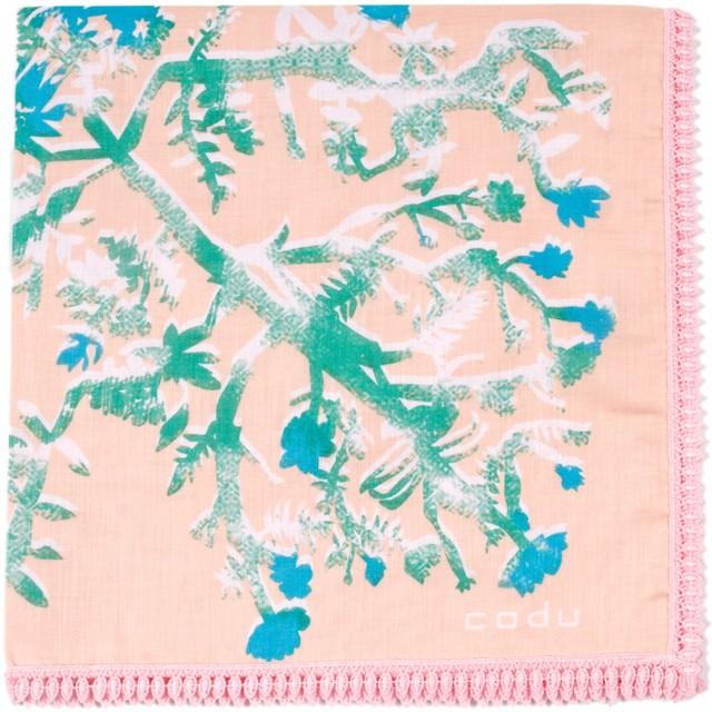 花を編む/ ピンク【ひびのこづえ】 ハンカチ
