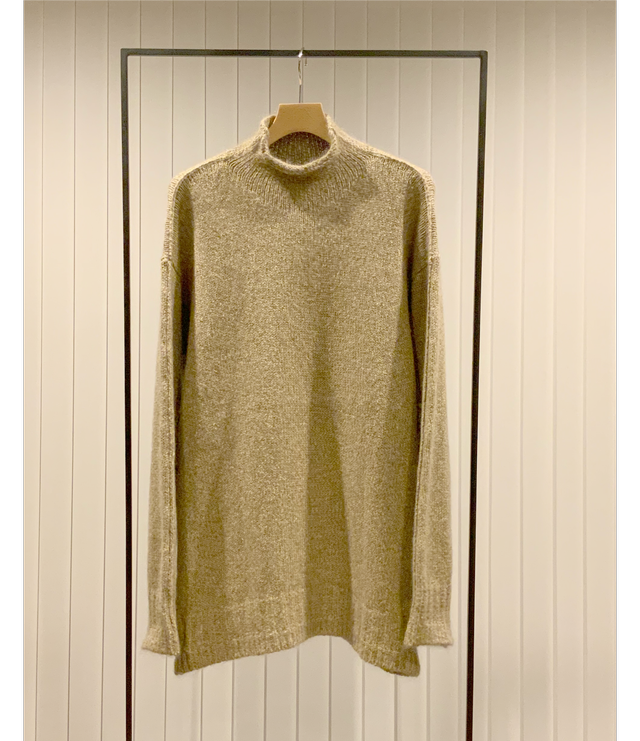 Borderline Mock-neck Sweater / Camel