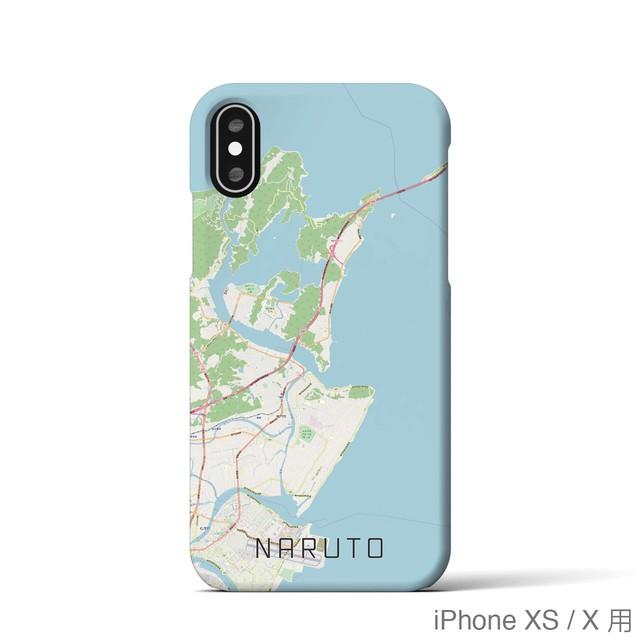 【鳴門】地図柄iPhoneケース(バックカバータイプ・ナチュラル)