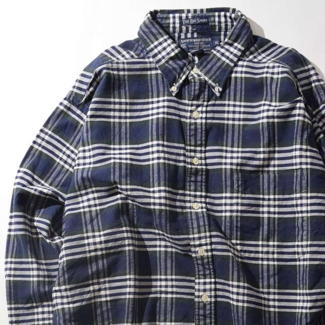 【XLサイズ】Abercrombie&Fitch アバクロンビー&フィッチ Check Shirts チェックシャツ NVY ネイビー XL 400602191004