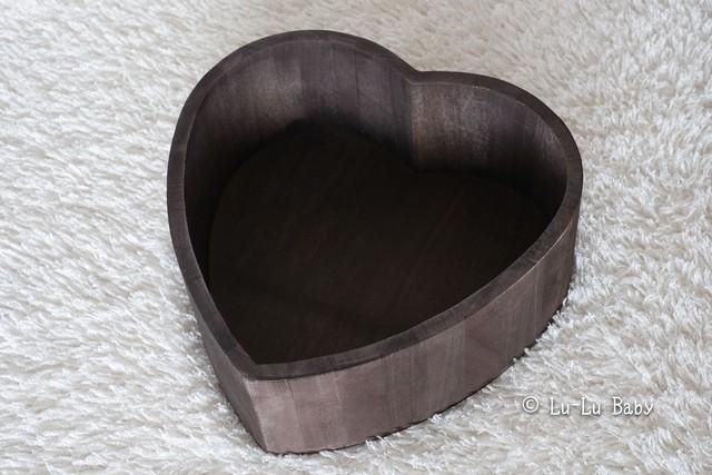 ハート型の木の器 (クラウンおまけでプレゼント!)