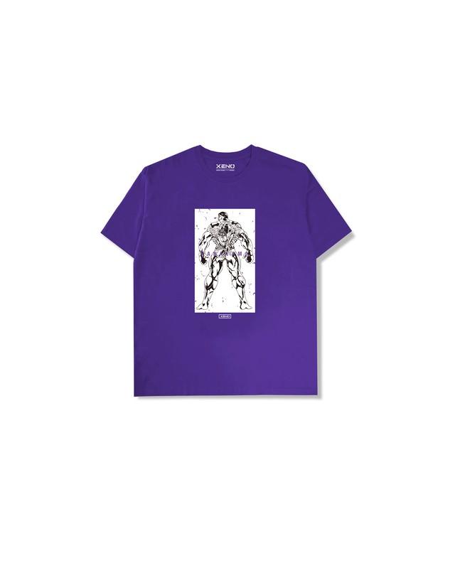 """XENO x BAKI Collaboration T-shirt """"HANAYAMA"""" Purple"""