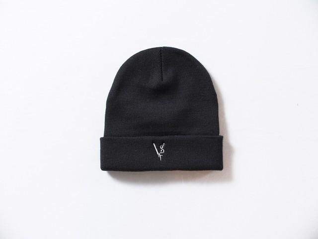 VST Knitted cap men's (刺繍入り)