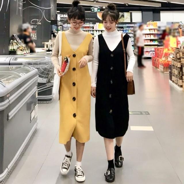 【set*単品注文】フェミニンな雰囲気しゃれど満々韓国流2点セット