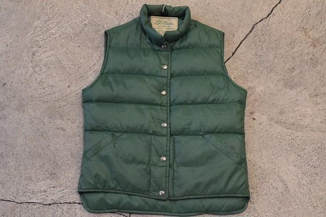 USED 70s Women L.L.Bean Down Vest -Medium 0841