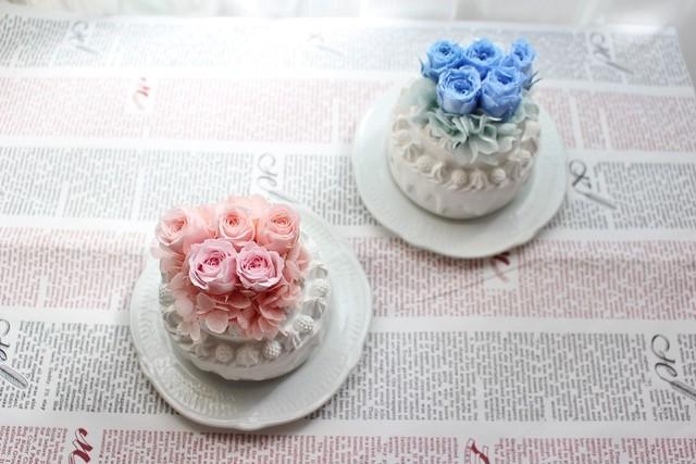 フラワーホールケーキ ピンク
