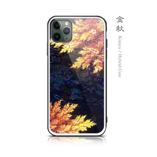 金秋 - 和風 強化ガラスiPhoneケース