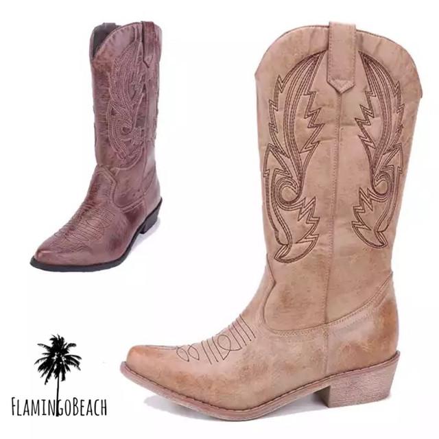 【FlamingoBeach】western boots ウェスタンブーツ