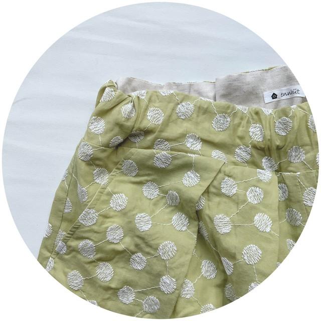 【ハカマパンツ】播州織 C/W  JQ/ネイビー/original textile