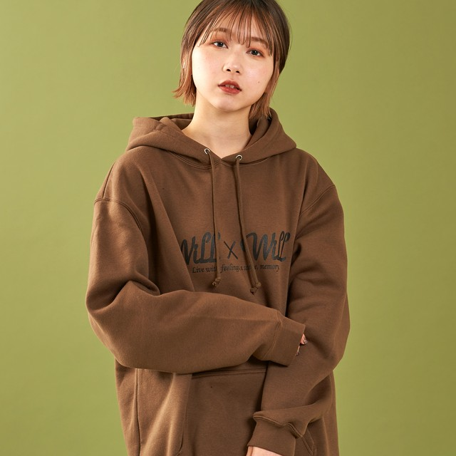 WillxWill Logo Pullover Parka Brown