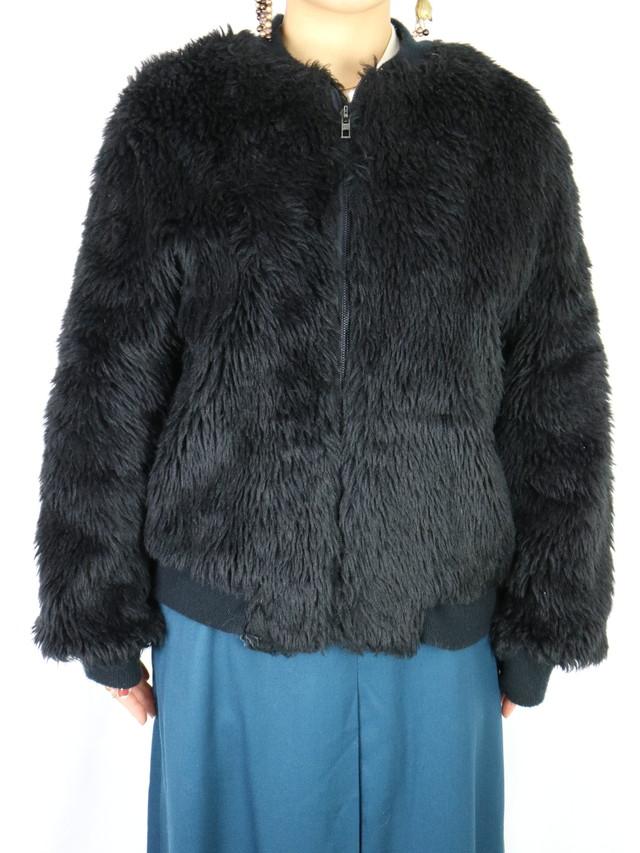 fake fur  blouson 【5372】