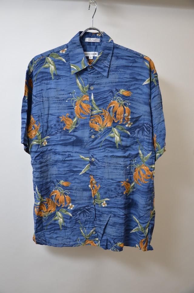 【XLサイズ】 PIERRE CARDIN ピエール・カルダン ALOHA SHIRTS アロハシャツ NAVY ネイビー 400602190633