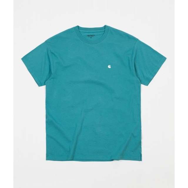 Carhartt S/S Madison T-shirt / SOFT TEAL-WHITE / サイズS