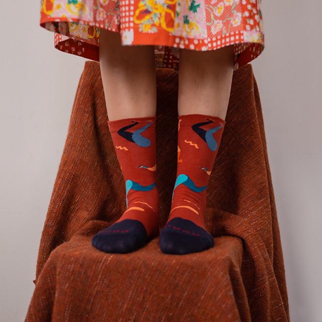 【Goodpair Socks】Fancy Footwork Dance・ソックス/レッド