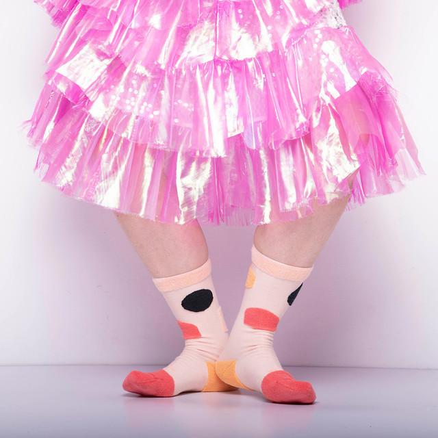 【Goodpair Socks】MY INNER BEAUTY・リバーシブルソックス/ピンク