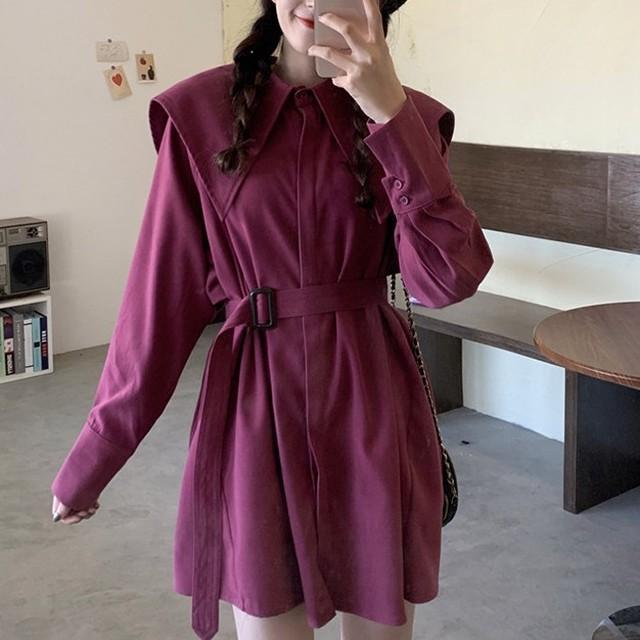 【dress】可愛いフェミニスリムワンピース