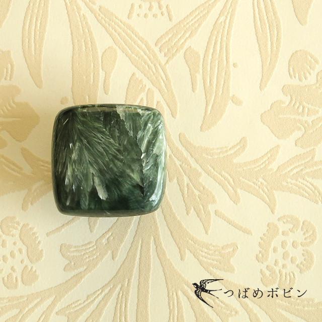 天然石の帯留 ◎ セラフィナイト/B