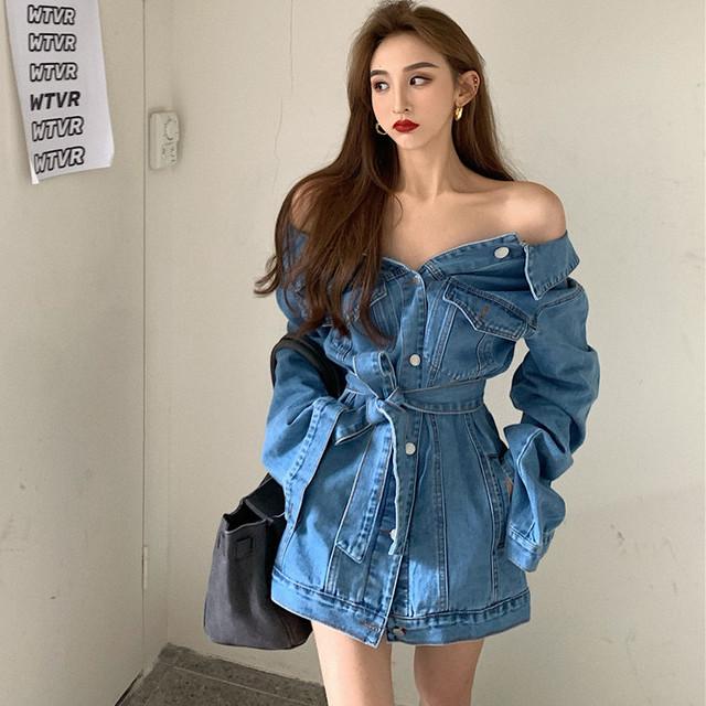 【アウター】無地韓国系長袖折襟シングルブレストジャケット35256917