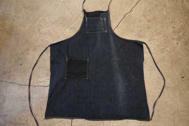 USED 60s Unknown Vintage denim apron G0584
